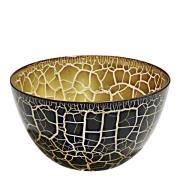 Croco Skål 21 cm Svart/Guld