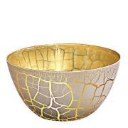 Croco Skål 17 cm Vit/Guld
