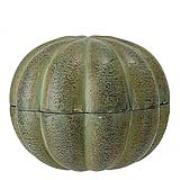 Burk med lock Grön Aluminium 12 cm