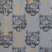 Coco Tiger tapet grå