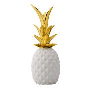 Pineapple dekoration vit-guld