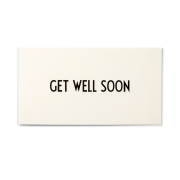 AJ Vintage ABC kort Get well soon