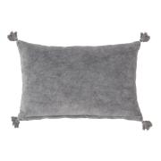 Bloomingville kudde med toffsar grå, 40x60 cm