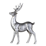 Serafina rådjur antikt silver stor