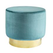 Jakobsdals sittpuff soft petrol (ljusblå)