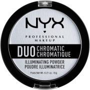 NYX PROFESSIONAL Makeup Duo Chromatic Illuminating Powder Twilight Tin