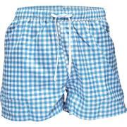 Resteröds Swimwear Blue/White squers S