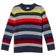 Gap Stripe Crazy Tröja Grå och Rainbow M (8 år)