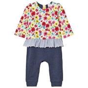 Gap Little Artist Triple-Layer Bodysuit Multi Floral 0-3 mån