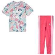 adidas Originals Logo T-shirt och Leggings Set Multicolour 3-4 years (...